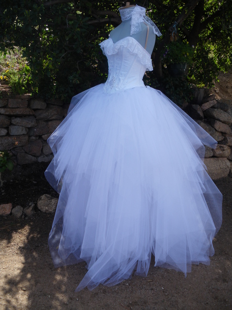 Patron robe de mariee tulle
