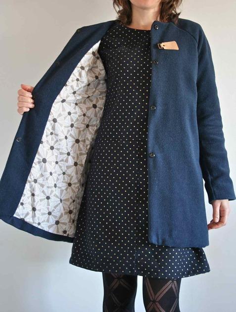 Voici mille et unième projet de la veste Chloé de LMV. Ce patron m a servi  à reproduire le modèle de manteau Sessun  8d29bed52c1