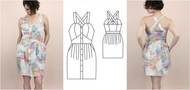 Patron de robe bustier couture
